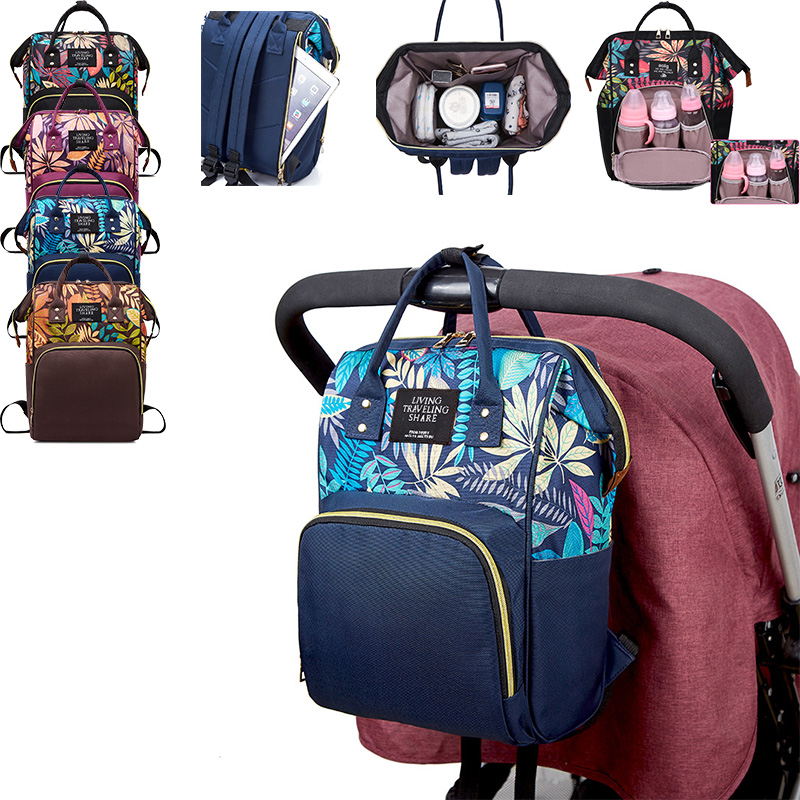 Large Capacity Diaper Bag Mummy Maternity Nappy Bag Outdoor Mom Backpack Nursing Bag Mummy Travel Backpack Baby Care Handbag