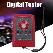 Estilo do carro 12 v led digital testador de óleo do motor qualidade detector gás diesel analisador fluido testador óleo automóvel preto/vermelho