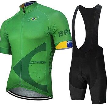 2021 brasil camisa de ciclismo pro eam bicicleta shorts terno mtb verão roupas triathlon skinsit maillot hombre