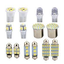 14 шт. T10 5050 5SMD 2835 4SMD 5050 4SMD 8 внутренний свет X ошибок светодиодный внутренний свет комплект посылка для BMW X3 E83 аксессуары