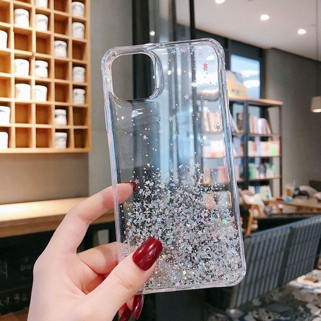 LAPOPNUT Glitter Case for IPhone 11 Pro Xs Max Xr X 7 8 Plus 6 6s SE 2020 Girls Liquid Bling Sparkle Soft Clear Silicone Cover