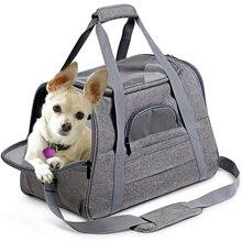 الكلب حقائب للحمل المحمولة الحيوانات الأليفة القط الكلب على ظهره تنفس القط الناقل حقيبة الطيران المعتمدة النقل تحمل للقطط كلب صغير