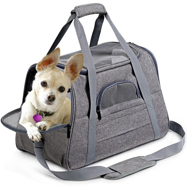 Köpek taşıma torbaları taşınabilir Pet kedi köpek sırt çantası nefes kedi taşıyıcı çanta havayolu onaylı taşıma taşıma kediler için küçük köpek