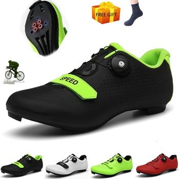 Sapatos de ciclismo homem profissional velocidade estrada bicicleta apartamentos unisex esporte ao ar livre tênis mulher sapatilha zapatillas hombre 1