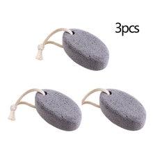3pcs Creative Oval Foot Stone Natural Pumice Stone Pedicure