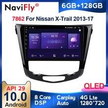 6G + 128G QLED 4G Android 10 para Nissan X-Trail xtrail X rastro 3 T32 2013 - 2017 Qashqai 2 J11 reproductor de Radio para coche de navegación No 2din