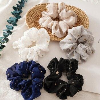 New ribbon ladies hair cord pack haar elastiekjes scrunchie chouchou cheveux femme silk scrunchies gum ties for women - discount item  78% OFF Headwear