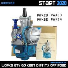 Universele Pwk 28 30 32 34 Mm Voor Keihi Carburateur Carburador Met Power Jet Voor Yamaha Suzuki Honda Ktm 125 300cc dirt Bike Atv