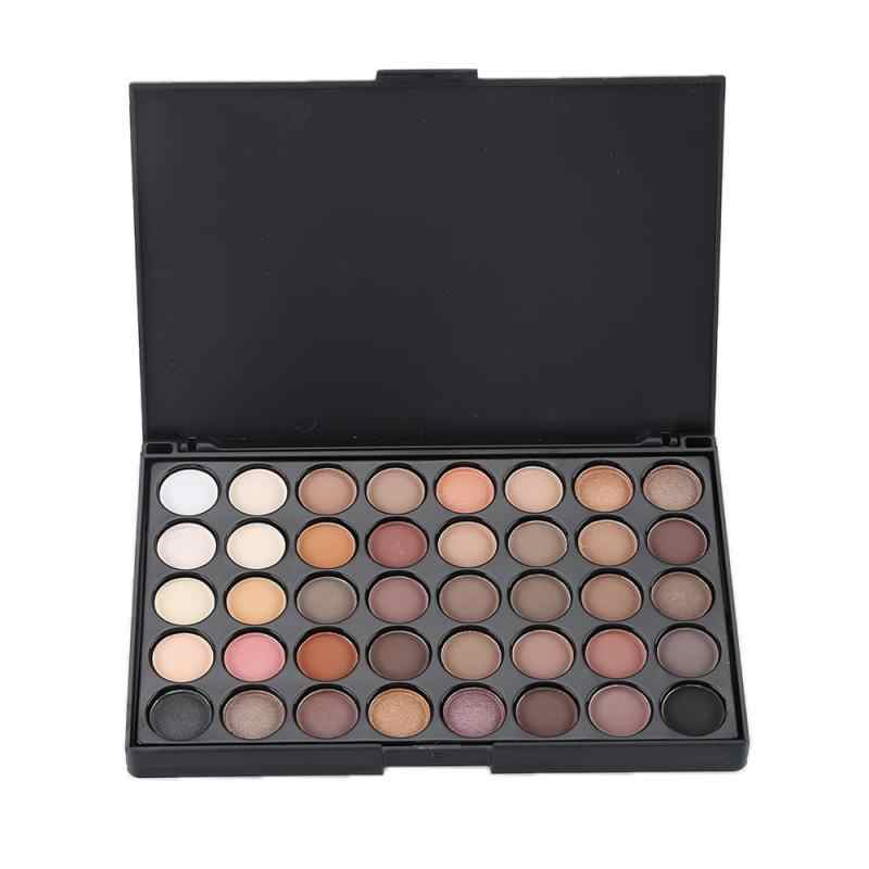 40 Color Matte Eyeshadow Palette Glitter Eye Shadow Waterproof Long Lasting Make Up Pallet Nude Shimmer Fashion Beauty TSLM1 New