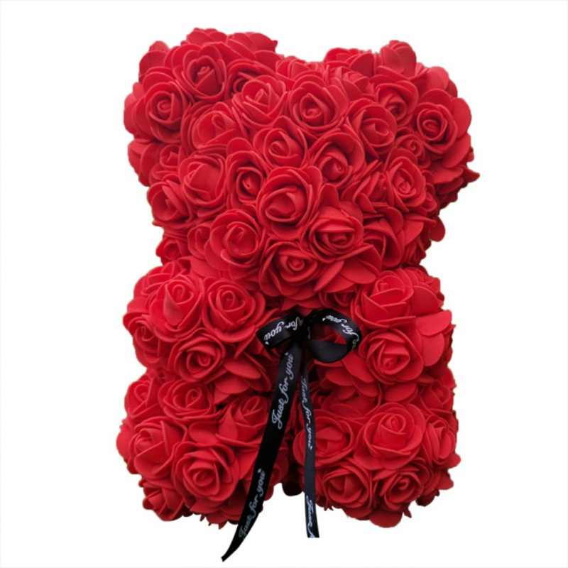 Preserved Rose Bear Soap Artificial Flowers Festival Valentine Birthday Gifts