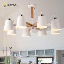 シンプルなデザインシェード照明器具ダイニングルームの照明シーリングランプ ファッションカラフルなモダンな木製天井ライト lamparas