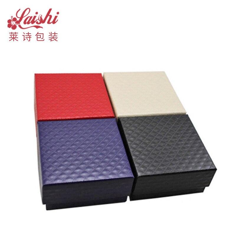 Top Grade Diamond Pattern Jewlery Box Ring Er Ding He Packaging Display Box Can Be Customized Logo