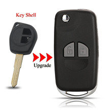 Kutery Upgrade Remote Car Key Shell For Nissan Pixo For Suzuki Alto Baleno 2Buttons With Right Blade Key Case Cover Replacement