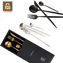 Youpin Metal Tableware Stainless Steel Spoon Set Smart Home Maision Maxx Knife Spoon Fork Tea spoon 4 Kit Simple Style