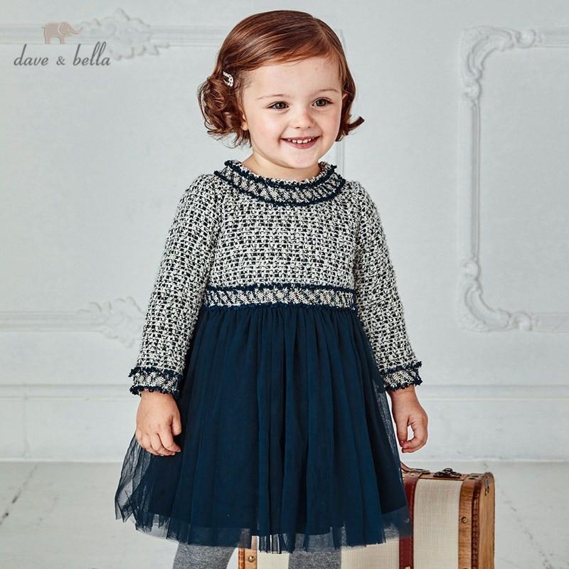 DB14477 dave bella/осеннее милое Сетчатое платье в стиле пэчворк для маленьких девочек; Детские модные вечерние платья; Детская одежда в стиле Лолиты|Платья| | АлиЭкспресс