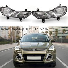 цена на fog light For Ford Escape Kuga 2013 2014 2015 2016 halogen fog lights headlight halogen fog lamps headlights DRL driving lights
