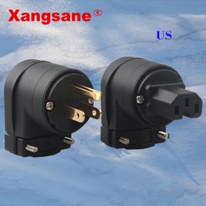Image 1 - Xangsane L شكل منحني F1 12 النحاس مطلية بالذهب الولايات المتحدة قابس طاقة التوصيل في وصلات صوت HiFi المكونات في 1 set