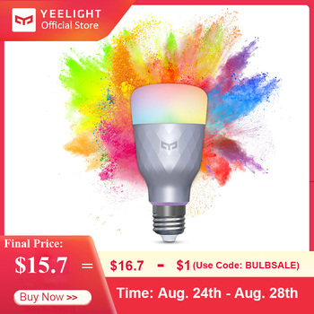 New Release Yeelight 1SE E27 6W RGB Smart LED Bulb Wireless Voice Control Colorful Light 650lm 100-240V Support Google Home