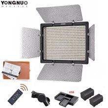 Yongnuo YN 600L YN 600 luz LED de vídeo estudio 3200 k 5500 k/5500 K lámpara de la temperatura de Color + 2 uds F750 batería + cargador