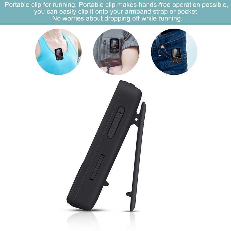 Neue Ankunft Original RUIZU X50 Sport Bluetooth MP3 Player 8gb Clip Mini mit Bildschirm Unterstützung FM, Aufnahme, e-buch, Uhr, Schrittzähler