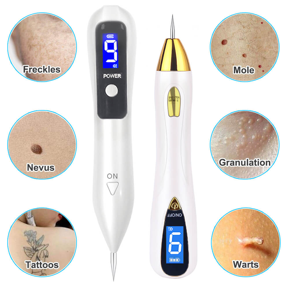Laser Mole Tattoo Freckle Removal Pen 9 Level LCD Sweep Spot Mole Removing Wart Dark Nevus Skin Tag Remover Beauty Care Machine