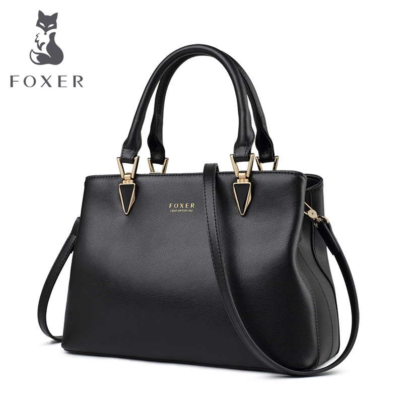 FOXER Office Women Commuter Style Business Handbag Chic Lady Purse Female Fall Winter Brand Bag Large Capacity Messenger Bags