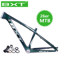 2020 BXT 26er MTB rahmen 14 zoll 3K matt/glänzend ultraleicht kinder mountainbike rahmen 26 kinder rahmen + headset + clamp + BB92