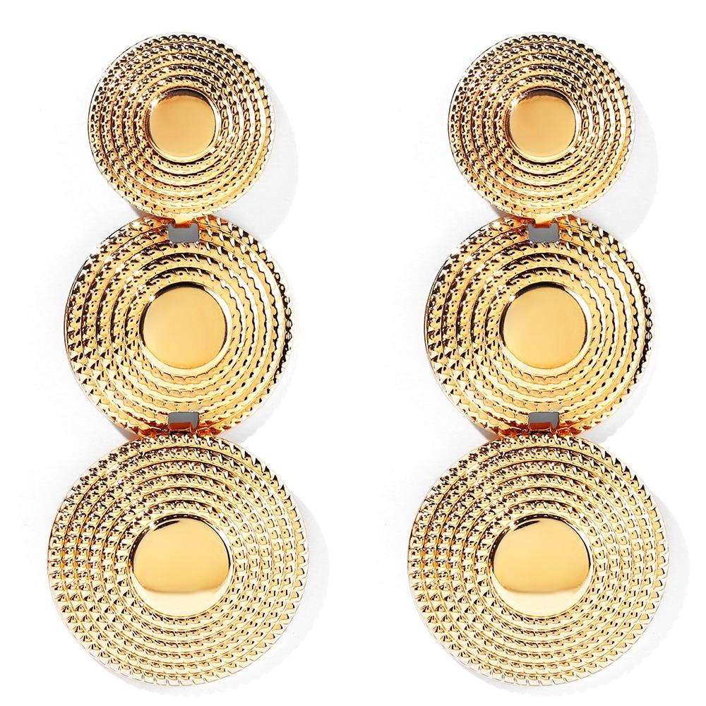 WYBU круглые металлические серьги ручной работы в Стиле Болливуда, традиционные индийские ювелирные изделия для ушей, витая и текстурированн...