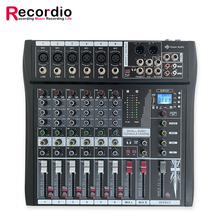 GAX-CT6 hot sale professional 6 Channel audio Mixing Console Audio Blueteeth with Power Amplifier Mixer