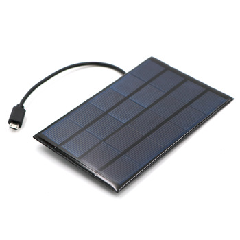 DC Solar Panel 400mA 2W 5V USB Micro Output Battery Charger 3