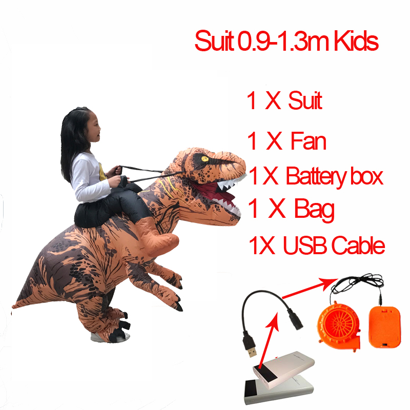 Anime Cospaly Adult Men T REX Costume Inflatable Dinosaur t-rex Mascot Costume Adultos Halloween Dinosaur Costume for Kids Women (4)