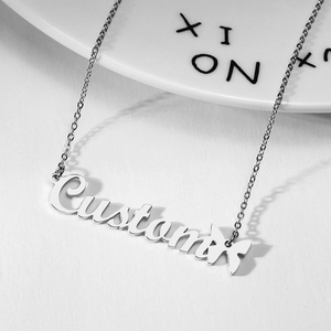 Personalized Custom Name Necklaces Customized Nameplate With Butterfly Necklace Women Jewelry Valentine's Day Gift(China)