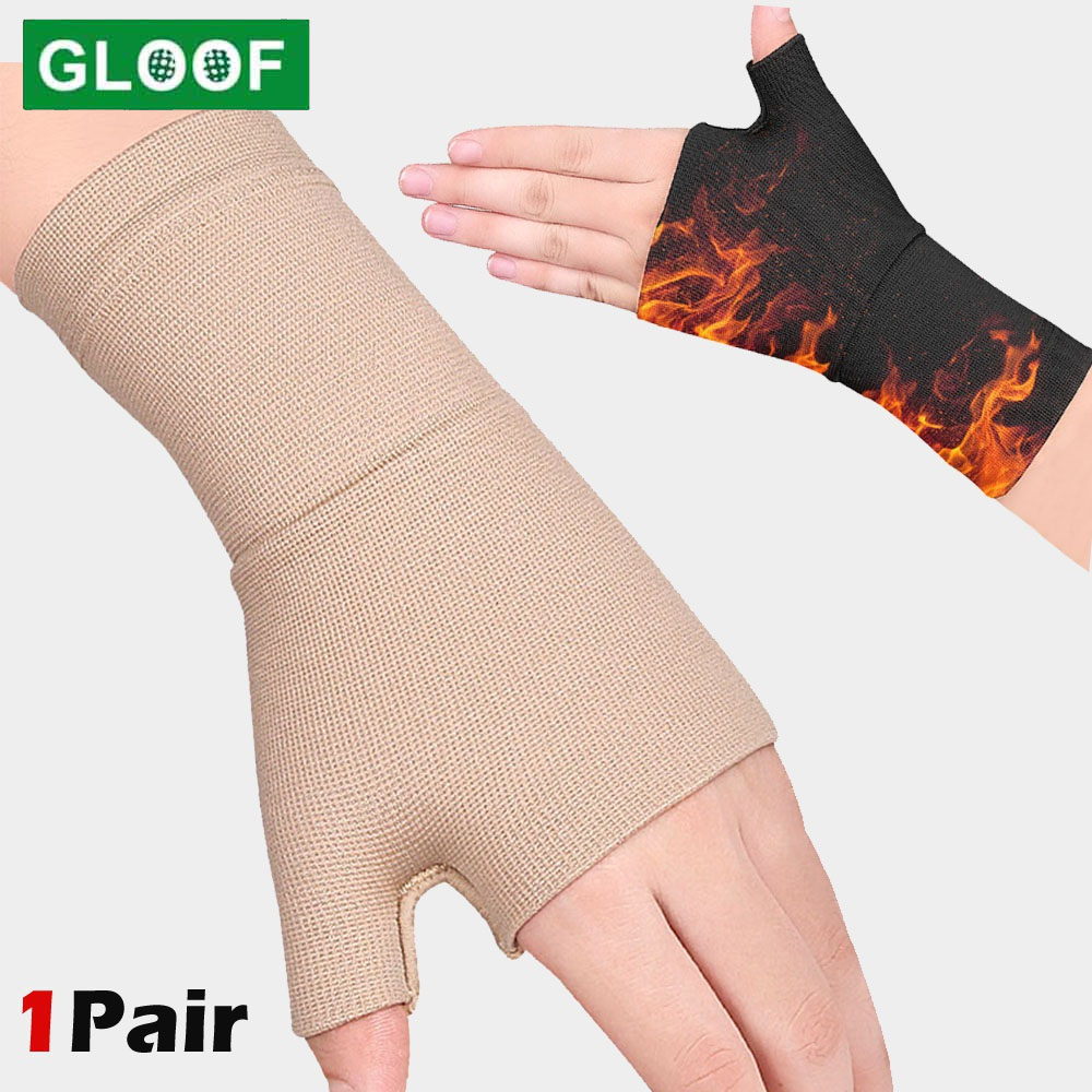 Golfer Compression Wrist Thumb Band Belt Carpal Tunnel Hands Wrist Support Brace Strap Sleeve Tenosynovitis Arthritis Gloves