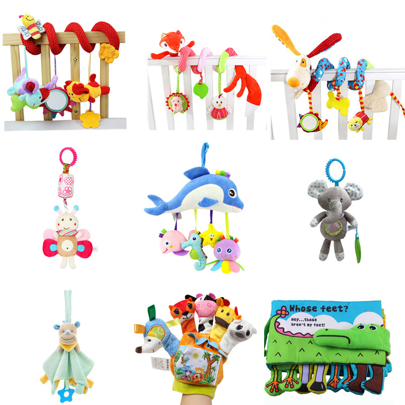 Soft Infant Crib Bed Stroller Toy Spiral Baby Toys For Newborns Car Seat Hanging Educational Rattle Toy For Christmas Gift image