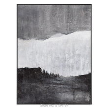 цена High Quality Hand painted Black and White Abstract Oil Paintings Canvas Oil Painting Wall Art for Living Room Home Decoration онлайн в 2017 году
