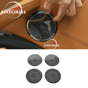 Para BMW X3 X4 G01 G02 18-19 altavoz de puerta de coche negro inoxidable cubierta decorativa embellecedora