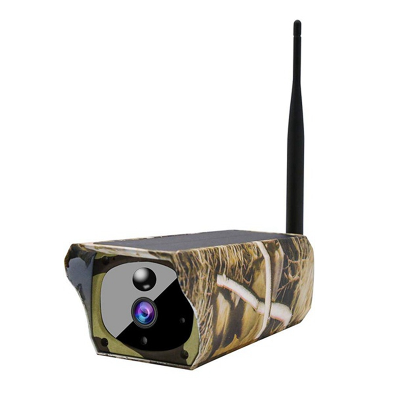 Solar Powered 1080P Trail Game Camera, Ip65 Waterproof Wifi Hunting Camera 850Nm Infrared Night-Vision Motion Activated Sensor W