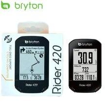Bryton rider 420 gps bicicleta computador habilitado com hr candence montar velocímetro sem fio à prova dwireless água acessórios