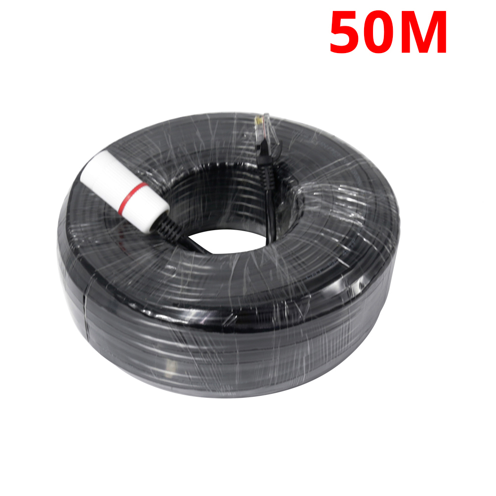 50M 20M Ethernet Cable RJ45 For CCTV IP Camera LAN Cable 65ft 164ft CCTV System Accessories LAN Cord