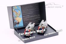 Modelo de coche fundido a presión, casi Real, edición de la expedición británica Trans América 1:43 + pequeño regalo