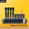 9000GTA Беспроводной микрофон Системы UHF 8-канальный динамический Студийный микрофон Беспроводной KTV для караоке вечеринок + петличный микрофо...