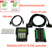 CNC Controller RichAuto DSP A11 A11S 3 Axis USB Controller Remote control system for CNC Router Machine Control System