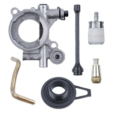 OOTDTY Oil Pump Worm Gear Oil Hose Line Filter Kit For HUSQVARNAE 365 371 372 XP 372XP 362 Chainsaw Replacement Parts