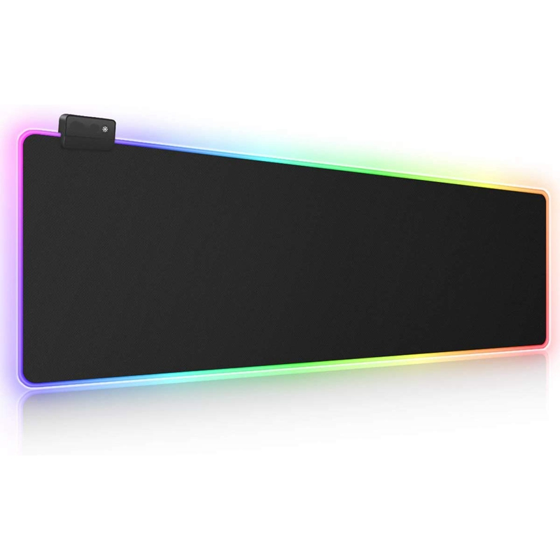 RGB Game Mouse Pad Large Extended Soft Led Mouse Pad With 14 Lighting Modes And 2 Brightness Levels Computer Keyboard Mouse Pad