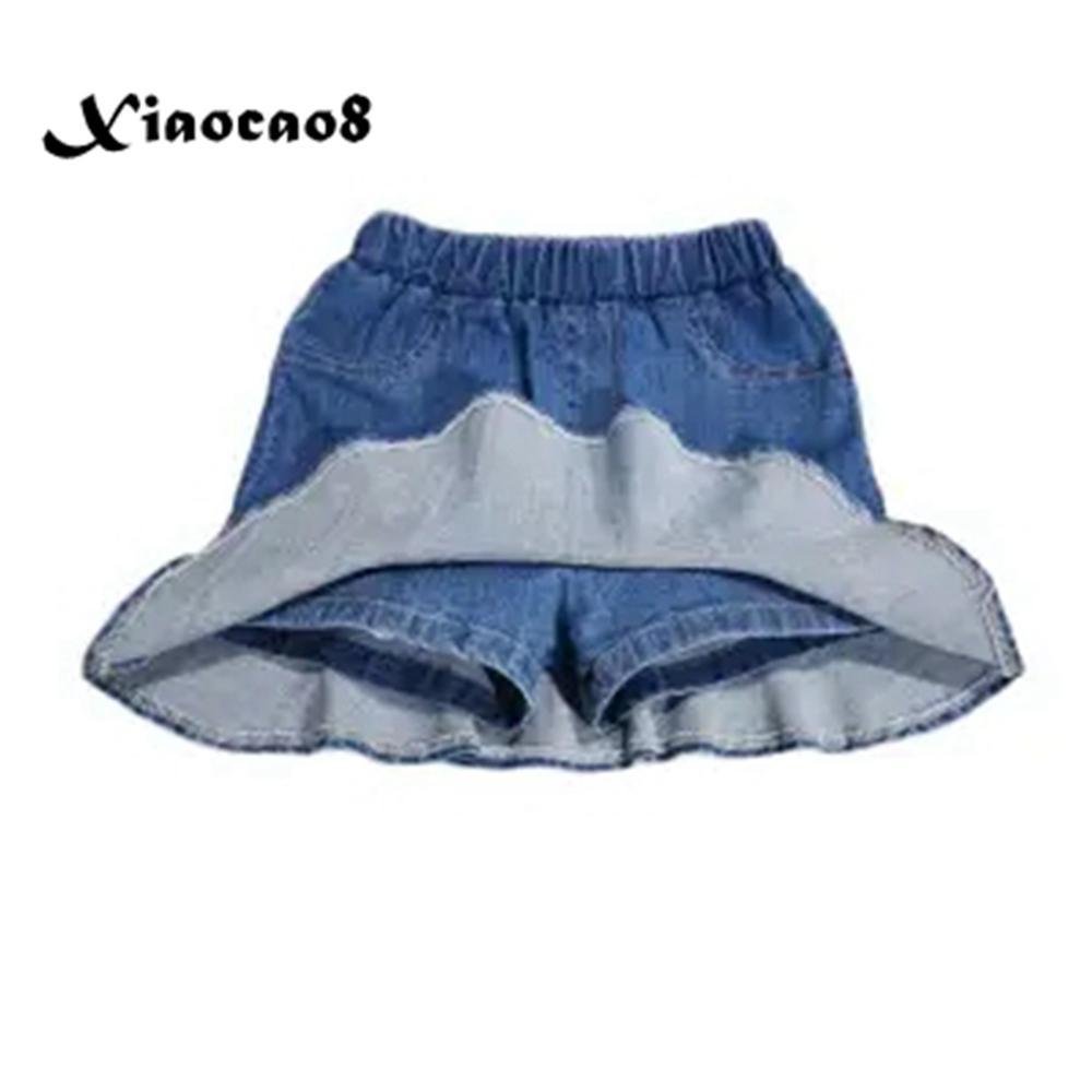 4-16Years Teenage Girls Skirt Shorts Summer Kids Denim Shorts for Big Girls Beach Clothes Toddler Girl Short Pants 6 8 10 12 14