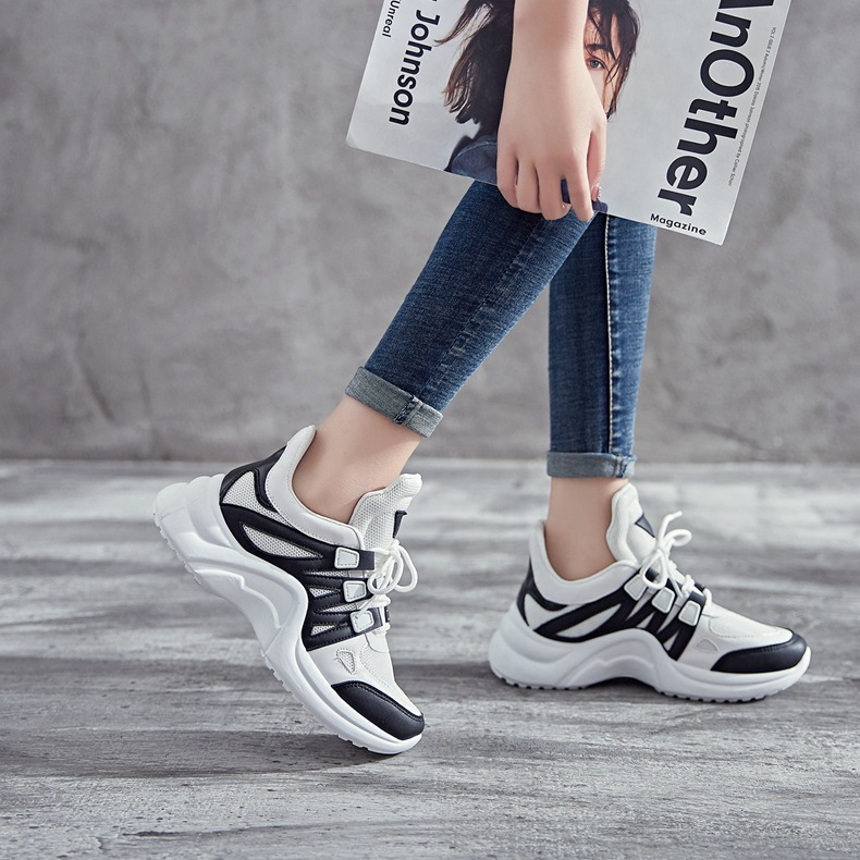 H2e04e00c7f3840c08b3ade299c68acfcr - Fujin Sneakers Women Breathable Mesh Casual Shoes Female Fashion Sneaker Lace Up High Leisure Women Vulcanize Shoe Platform