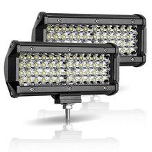 """Luz LED de trabajo de 7 """", 12V, vigas Led de 144W, barra Led para coche fuera de la carretera, reflector de inundación 4x4, accesorios para motocicleta, SUV, ATV, Tractor, rampa de led"""