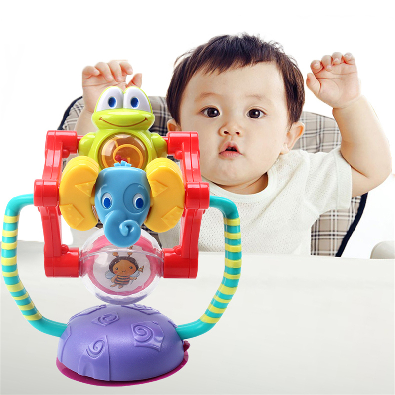 Baby Activity Toy Animal Ferris Wheel Rattle Toy Intellectual Development Puzzle Baby Dining Chair Cart Suction Cup Toy Baby Toy