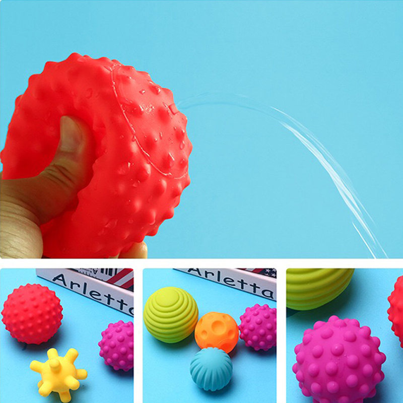 Textured Multi Ball Set Soft Develop Baby Tactile Senses Toy Baby Touch Hand Training Massage Ball Activity Toys DS19