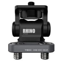Vlogger M3 anahtarı ayarlanabilir DSLR kamera monitörü Ballhead HDMI kablo klipsi gergedan ayarlanabilir sönümleme kafa